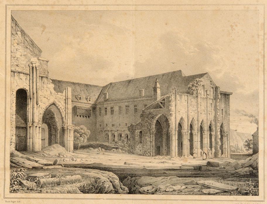 L'abbazia di Saint-Pierre a Flavigny dopo la Rivoluzione francese.