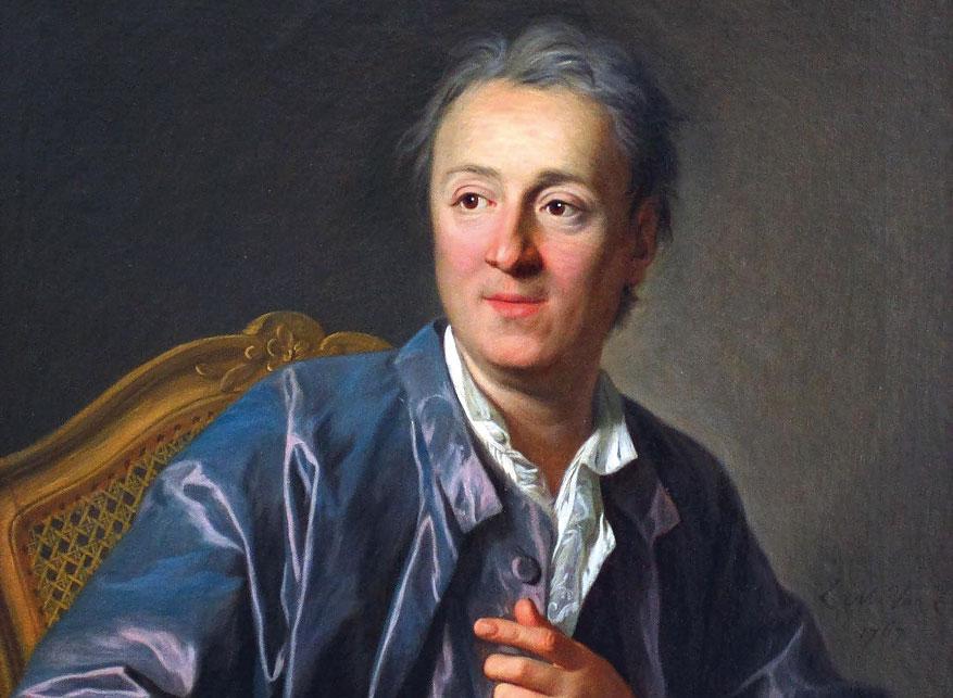 Denis Diderot (1713-1784), scrittore e filosofo dell'epoca dei Lumi.