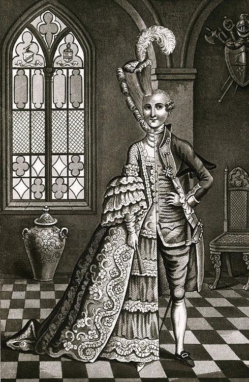 Il cavaliere d'Eon (1728-1810), personaggio storico enigmatico, trascorrerà quarantanove anni della sua vita in abiti maschili e trentatré in abiti femminili.