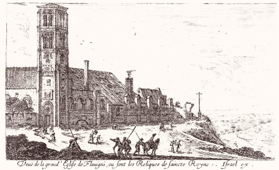 """""""Vista della grande chiesa di Flavigny dove sono custodite le reliquie di santa Regina"""""""