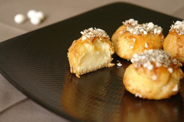Choux buns with Petits Anis