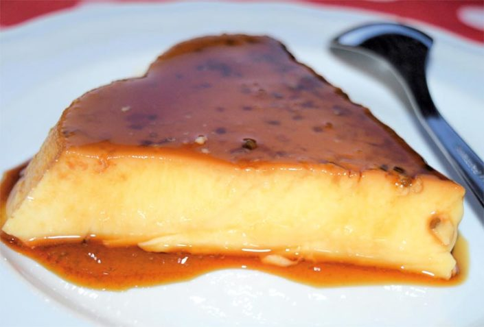 Crème caramel with Petits Anis